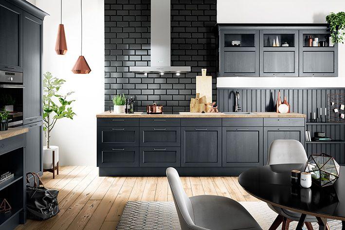 BRISTOL Samtblau/ Produktlinie classic #häckerküchen #häcker #küchen