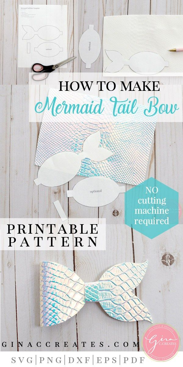 Mermaid Tail Bow Tutorial With Free Printable Bow