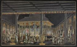 Scene in the Bada Imambara at the height of the Muharram Festival