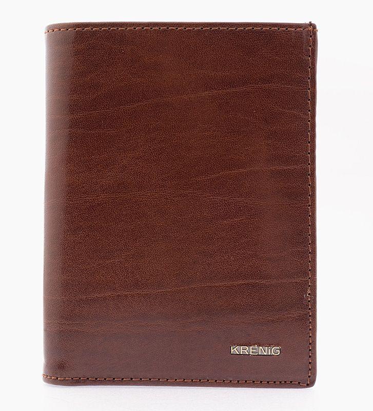 Genuine real leather brown mens wallet el dorado