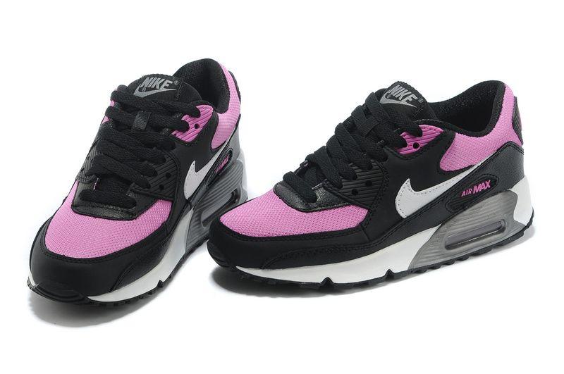 half off Womens Viola White Black Metallic Cool Grey Nike Air Max 90 2007 (GS) Shoes 2015 running shoes
