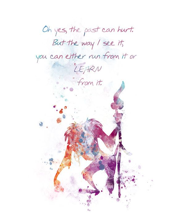 Rafiki Quote Lion King Art Nursery Print Lion King Poster Watercolor ...