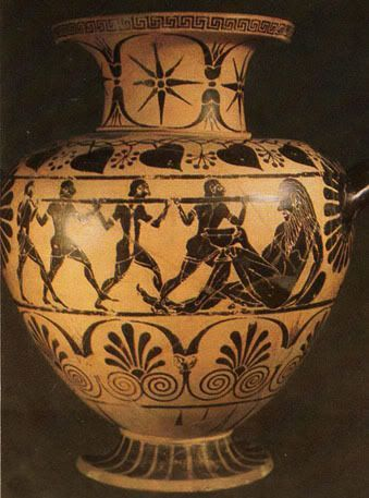 Odyseus blinds the Cyclop, Magna Grecia- 520 BCE -: