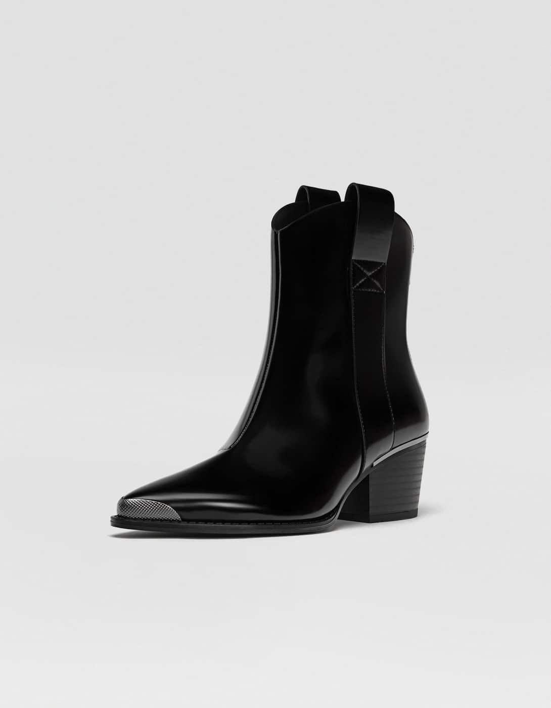 a5c136daa Botín cowboy negro - Botas y botines