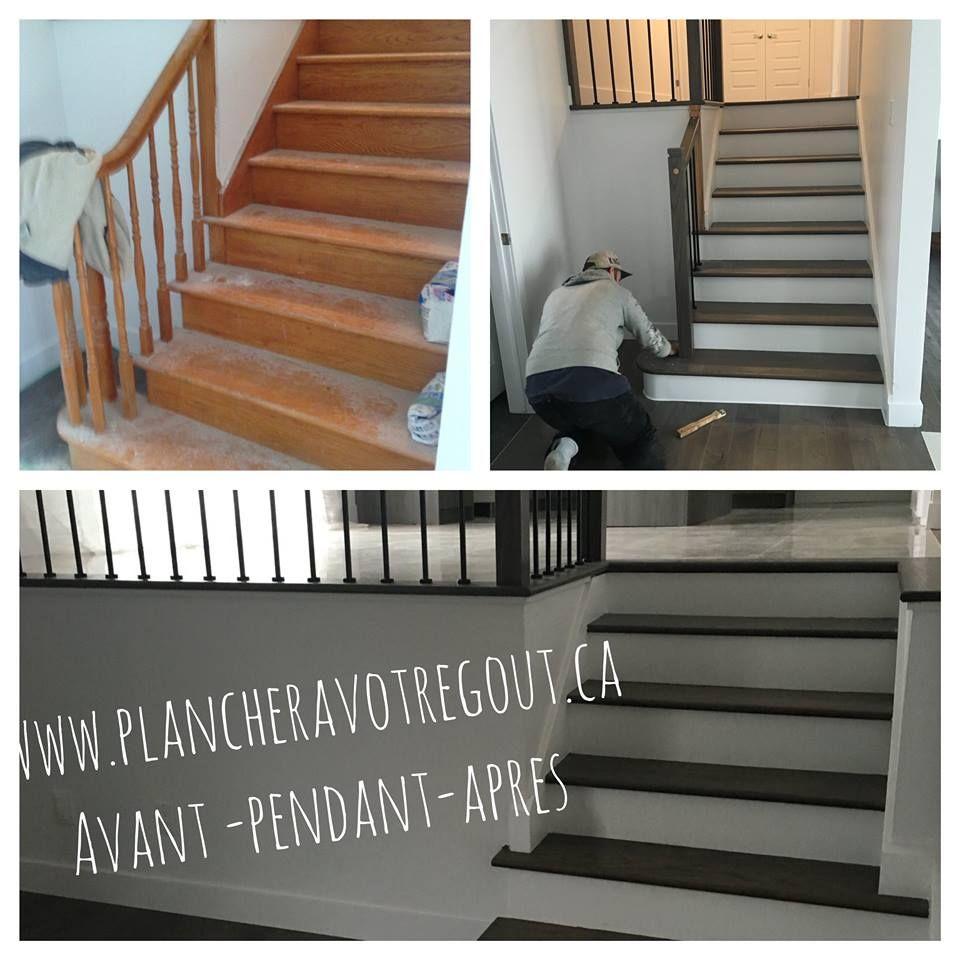 Vitrificateur Escalier Apres Peinture escalier jaunis et vieillis avant et après teinture des