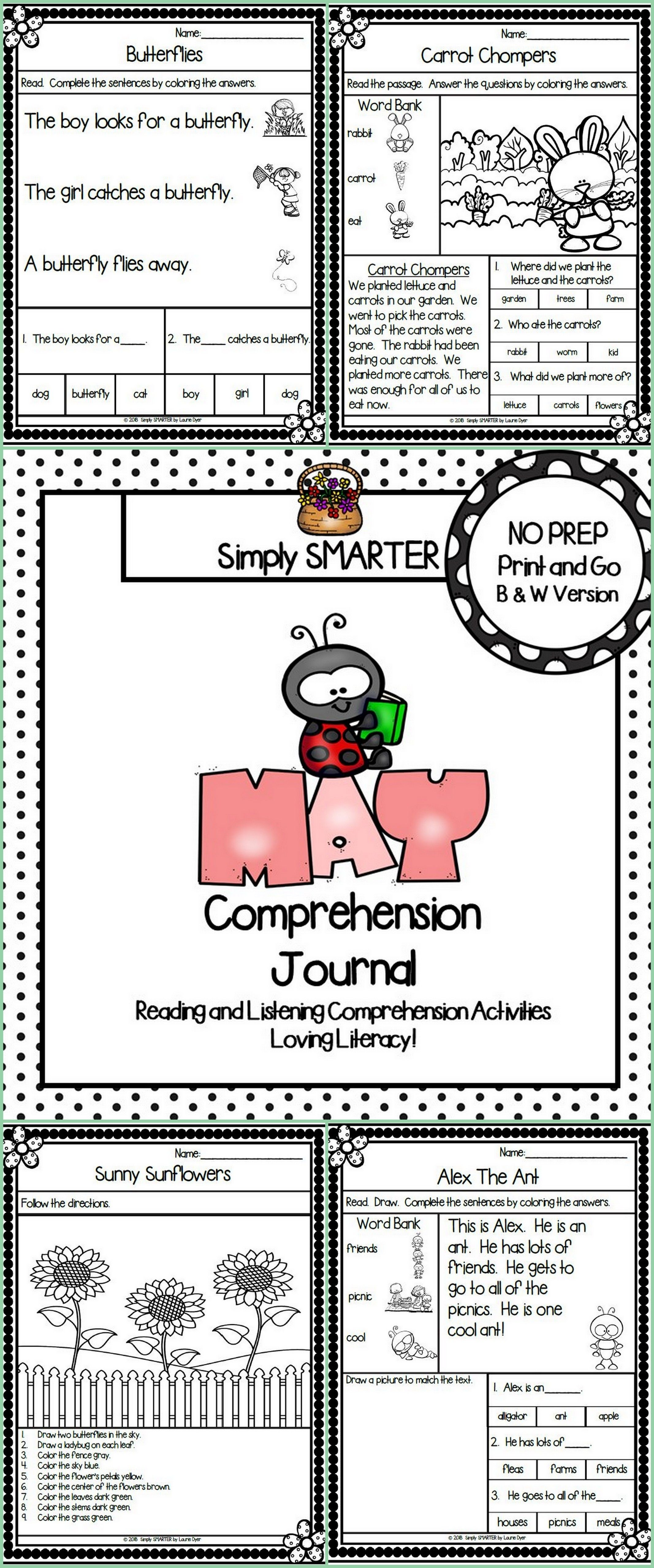 May Comprehension Journal Reading Comprehension Passages