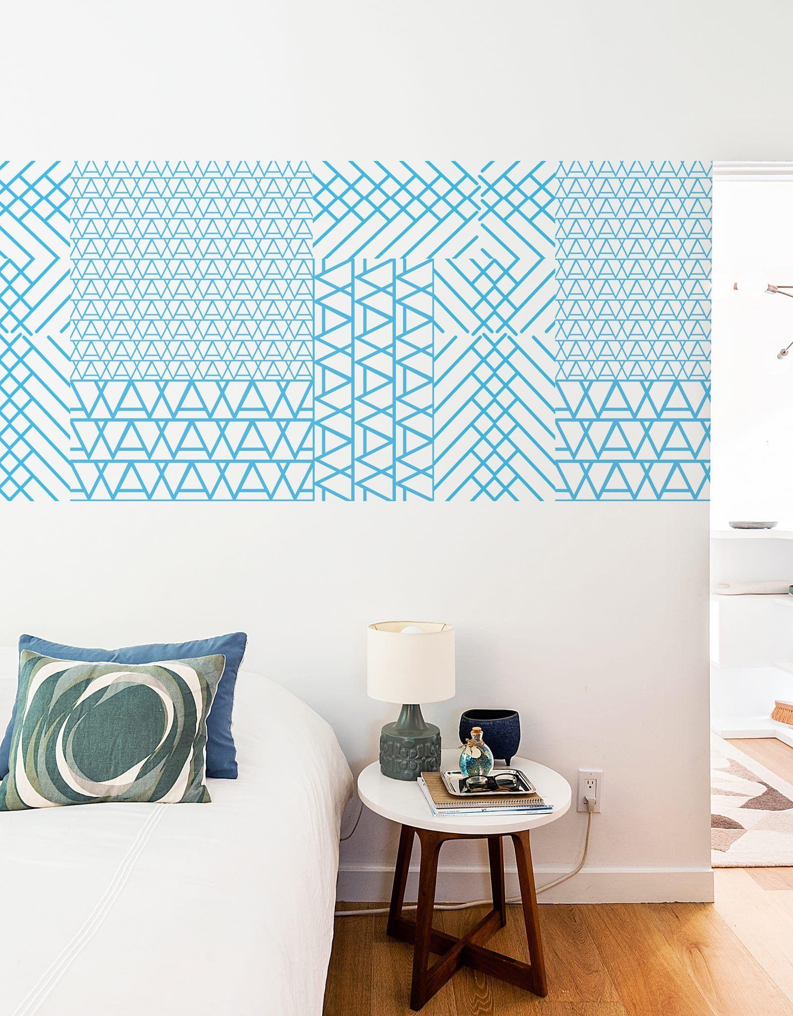 Blue Cross Mountain Pattern Wall Tiles | Pinterest | Patterned wall ...
