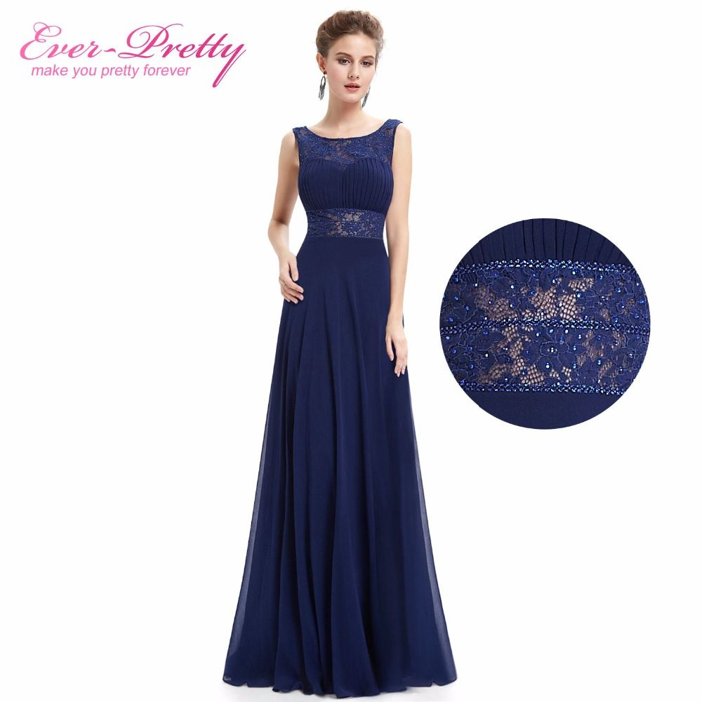 Best affordable wedding guest dresses  Navy Blue Womenus elegant long Mother Of The Bride Dress Ever Pretty