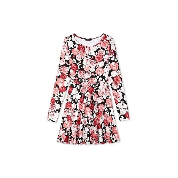 Style Deals - A skater dress featuring an allover rosebud print. Round. 8b81cc9d5