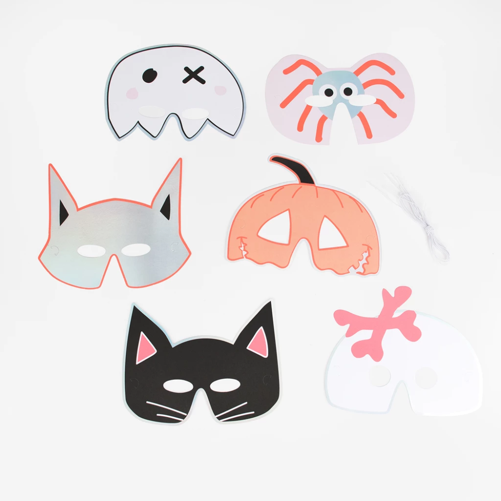 6 masques - Halloween #deguisementfantomeenfant 6 masques - Halloween | My Little Day #deguisementfantomeenfant