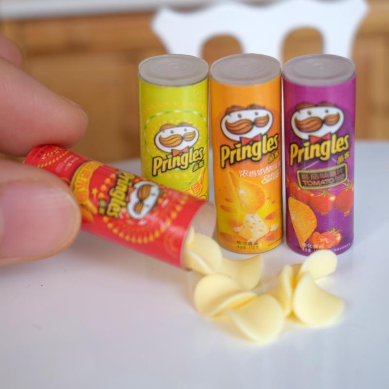 4Pcs//set 1:12 dollhouse miniature potato chips bottles dollhouse accessories