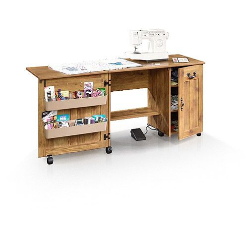 Delightful Sauder Sewing And Craft Table, Multiple Finishes  Craft Table/storage
