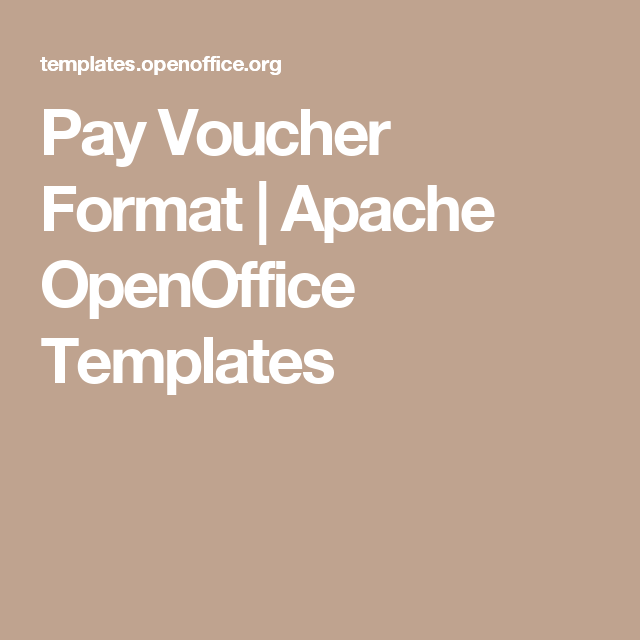 Pay Voucher Format  Apache Openoffice Templates  Tax Stuff