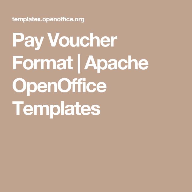 Pay Voucher Format  Apache Openoffice Templates  Tax Stuff