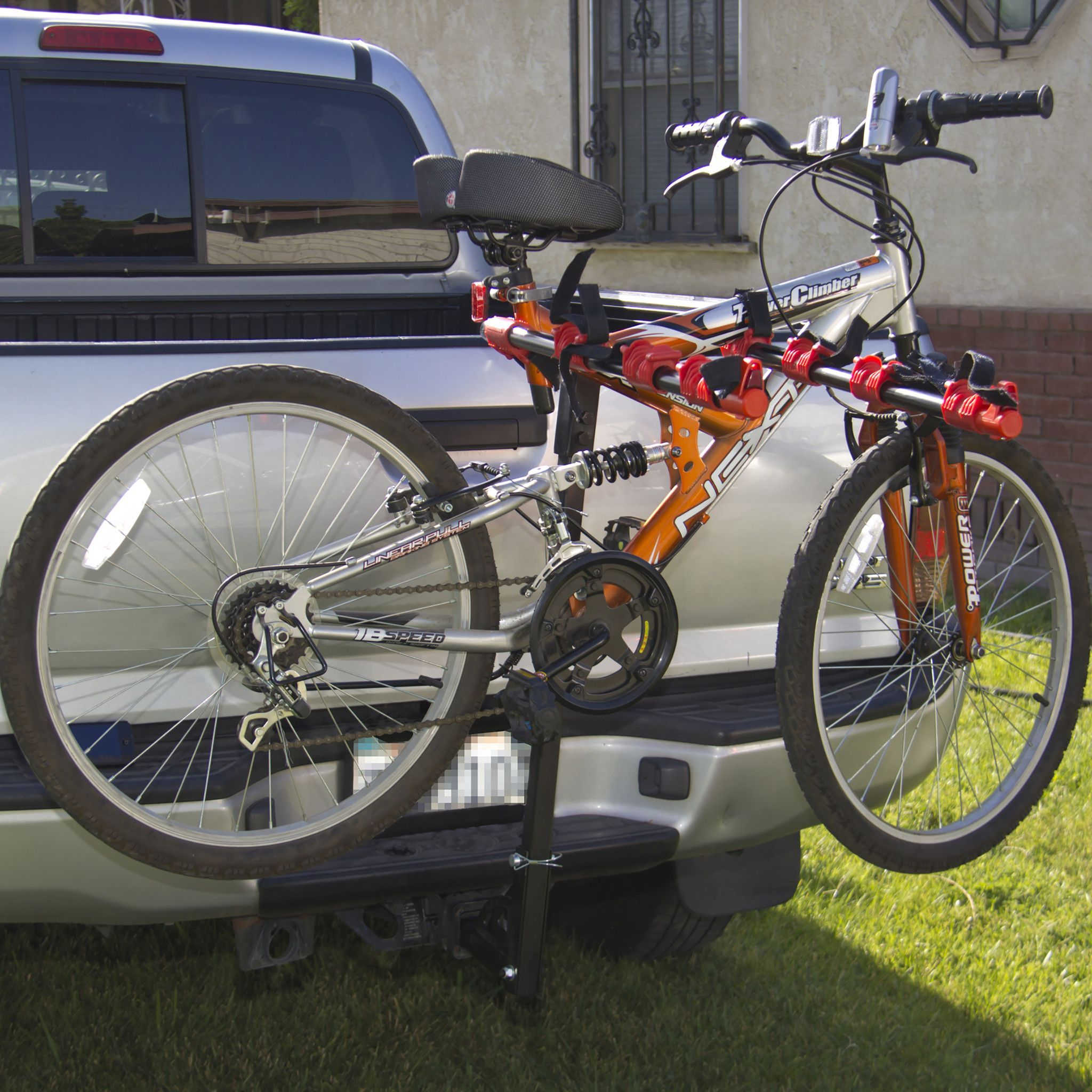 Supports Up To 4 Bikes Fits Most Cars Trucks Suvs Or Minivans With A 2in Or 1 1 4 Receiver Capable Of Fitting A Wide Ar Mini Van Car Bike Rack Bicycle
