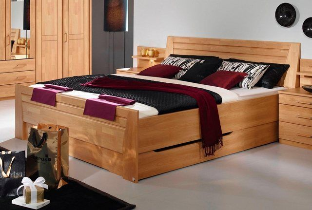 Bett, mit Sockelschubkästen Haus deko, Bett und Doppelbetten