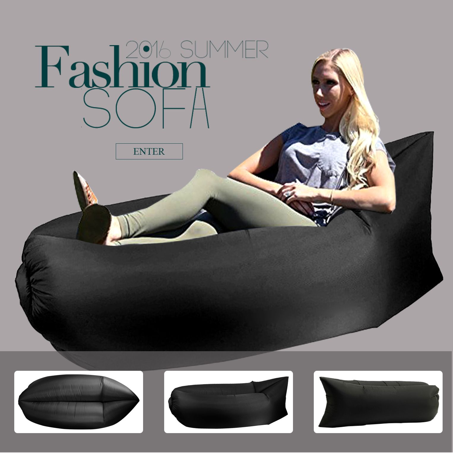 Leather Sofa Ebeautyday Fashion Hangout Outdoor Indoor Lounger Fast Inflatable Couch Air Bed Sofa Chair Inflating