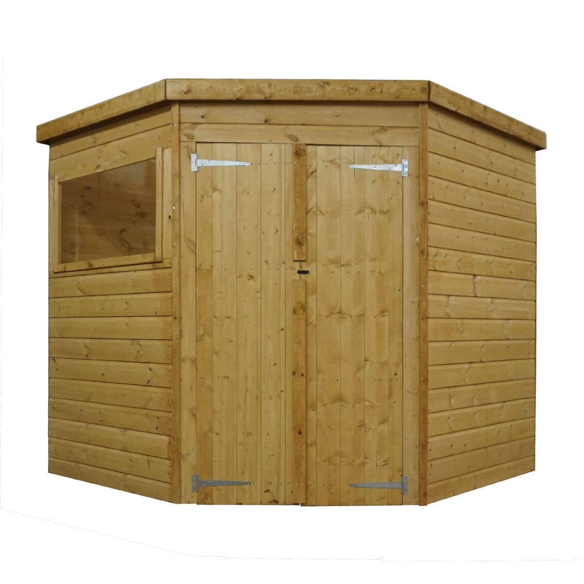 Mercia Shiplap Corner Shed 7 X 7ft Robert Dyas In 2020 Corner Sheds Shed Building A Shed