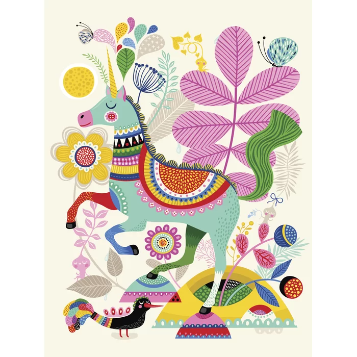 Shawna Unicorn Happiness By Helen Dardik Wall Stickers Art Wall Kids Art Prints Quotes Helen Dardik