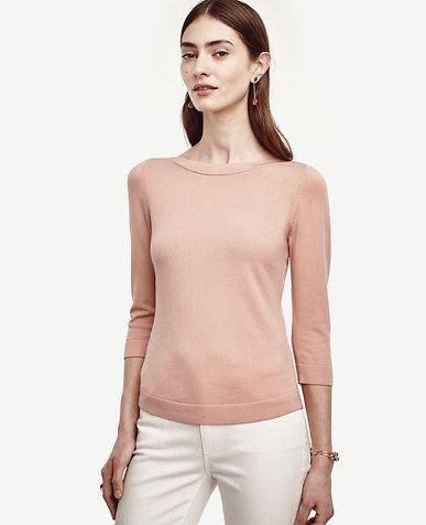 Image Of Tall Bateau Sweater Color Sunrise Peach Women S Apparel