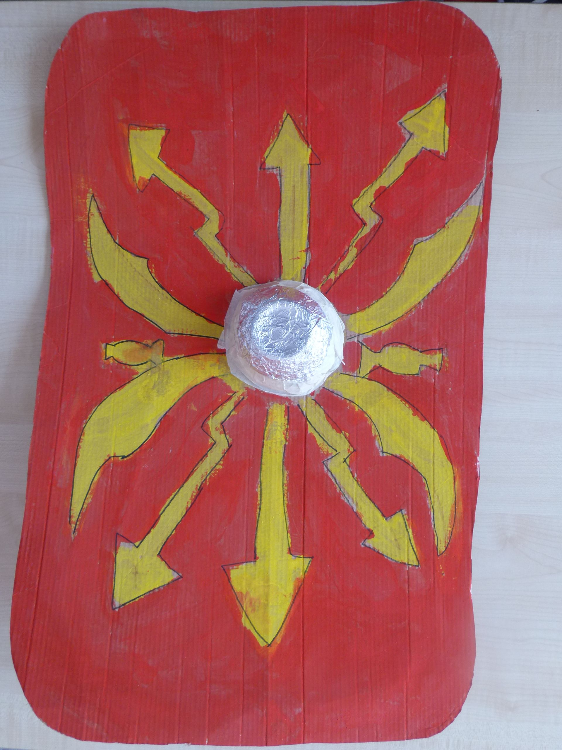 Kids Roman Shield With Foil Bowl For Boss