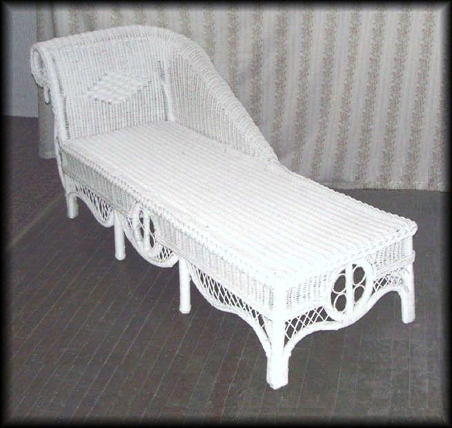 Ralph Lauren Wicker Chaise Lounge Outdoor Furniture Cushions Indoor