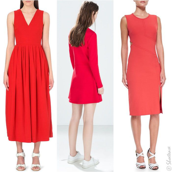 red dress white shoes What Color Shoes to Wear with Red Dress: The Very Best Picks! | Idées  vestimentaires, Robe cocktail rouge, Robe rouge