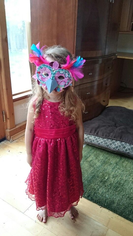 Owl mask for toddler birthday party