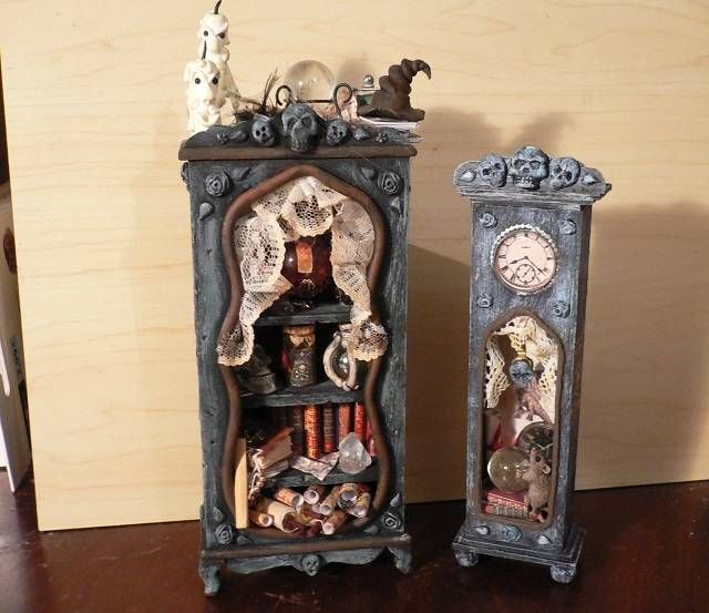 Halloween Miniaturen.Inspiration For Witch House And A Lot Of Turorials At The