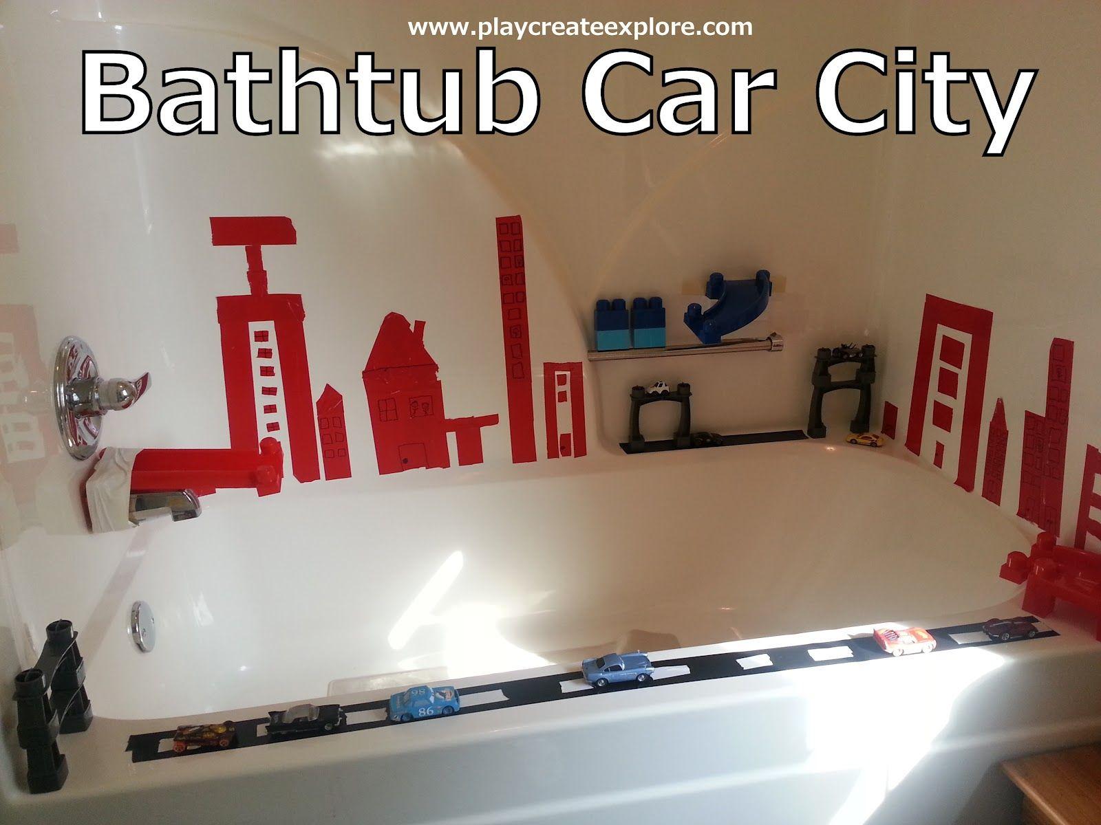Play Create Explore: Themed Bath Thursday: Bathtub Car City | Bath ...