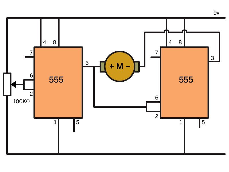 Control Three Types of Motors with 555 Timers   Third, Arduino and ...
