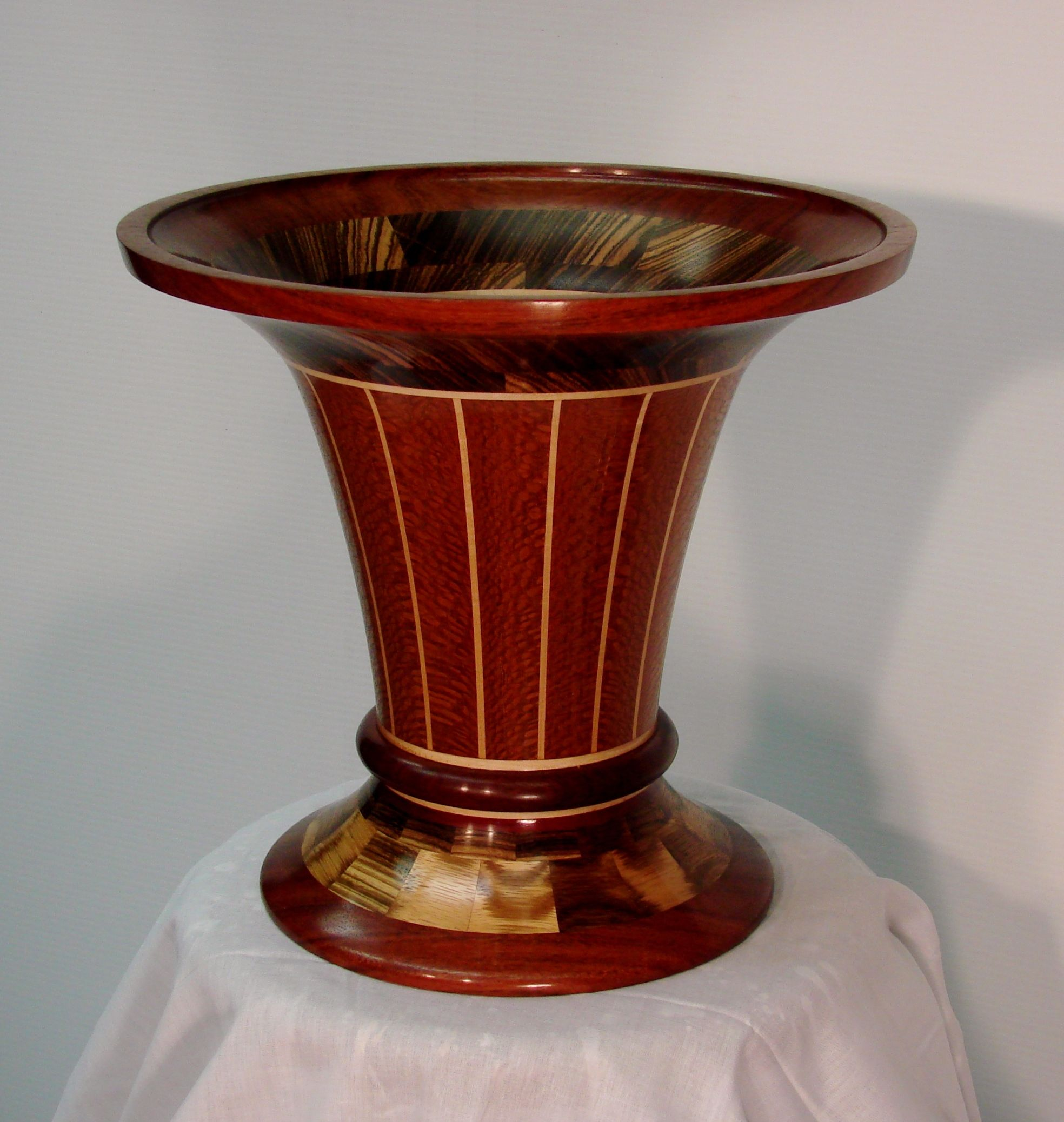 Lathe turned segmented wood vase 14 diameter by 135 high made lathe turned segmented wood vase 14 diameter by 135 high made from reviewsmspy