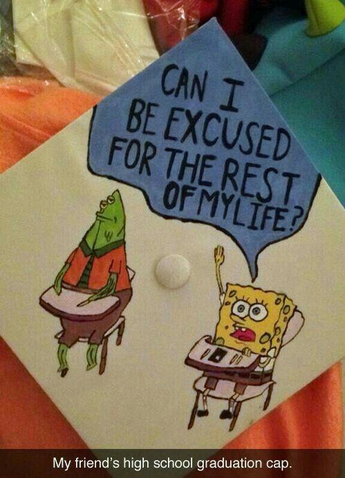 Spongebob Quote Funny Graduation Caps High School Graduation Cap Decoration Graduation Cap Decoration