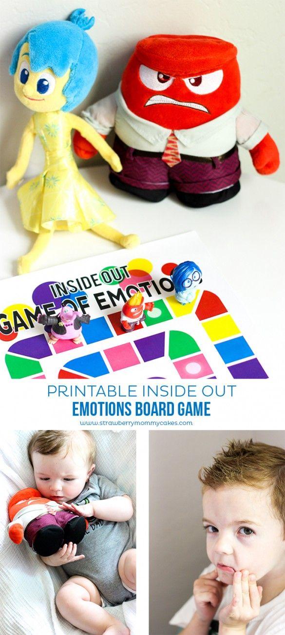 Las Emociones Para Imprimir Inside Out Juego De Mesa Homeschool