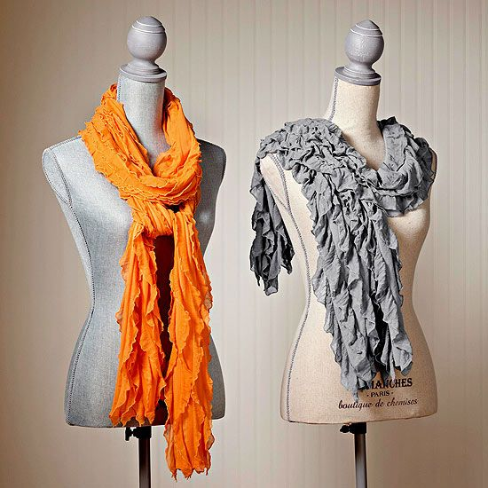 Cozy Fall Crafts | Scarves, Easy and Fabric strips