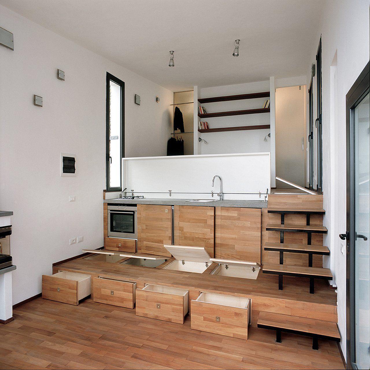 piccola villa di 35 mq a 3 livelli bella e funzionale | studio ... - Soggiorno Cucina 35 Mq