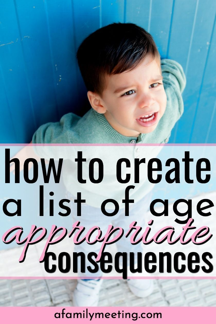 Need a List Of Appropriate Consequences for Bad Behavior