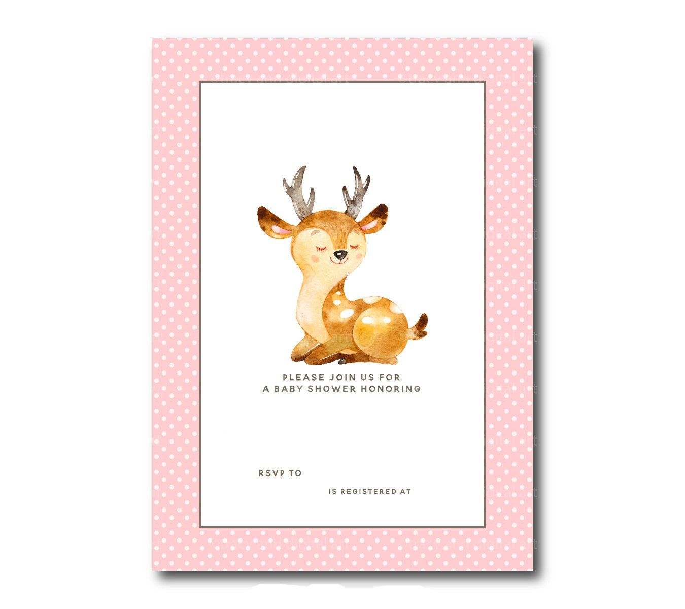 Download Free Template Free Printable Baby Deer Baby Shower Template Baby Shower Templates Deer Baby Showers Deer Birthday Invitations