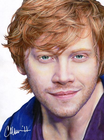rupert grint colored pencil drawing by desenhos pinterest. Black Bedroom Furniture Sets. Home Design Ideas