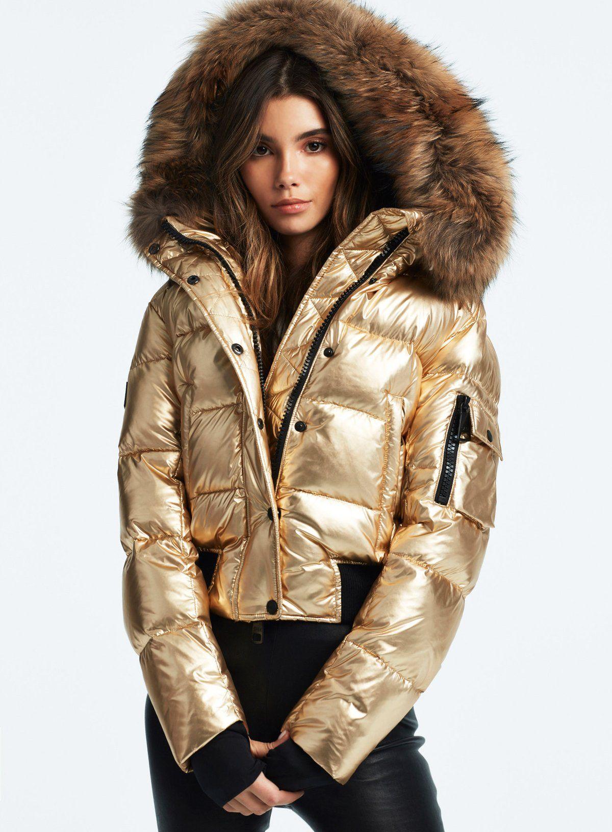 Skyler Gold Puffer Jacket Women Chic Winter Outfits Jackets [ 1632 x 1200 Pixel ]
