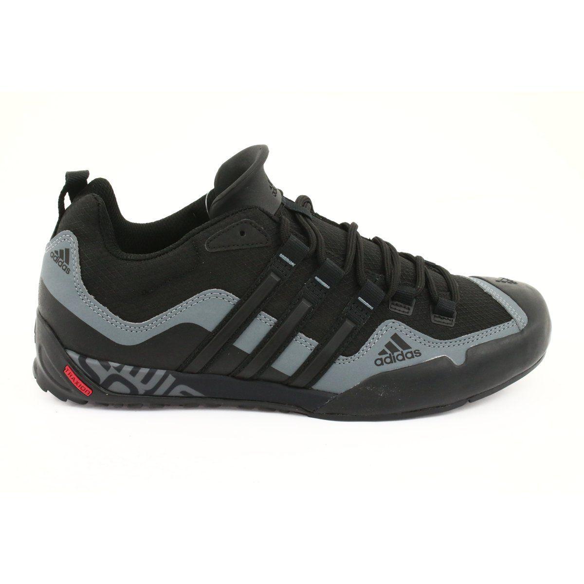 Buty Adidas Terrex Swift Solo M D67031 Czarne Szare Black Shoes Sports Footwear Sports Shoes Adidas