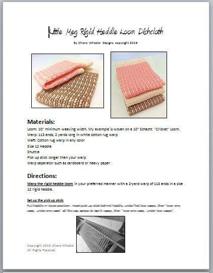 Little Meg Rigid Heddle Loom Weaving Pdf Pattern Etsy Heddle Loom Loom Weaving Weaving