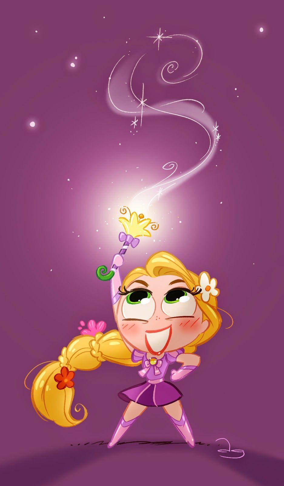 David gilson chibie magical punzie dessin kawaii - Disney princesse raiponce ...
