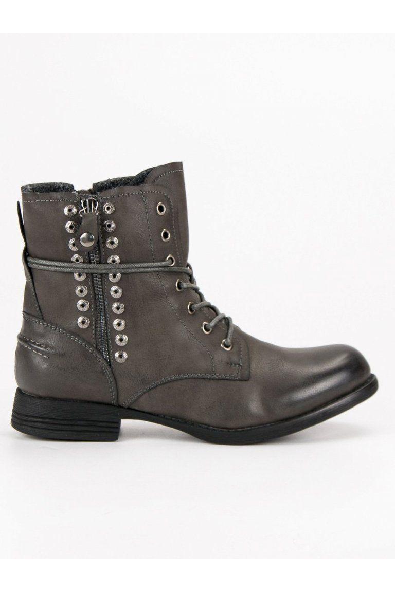 a544395caf8d0 Sivé rockové topánky Kayla | Čižmy Workery - NAJ.SK | Čižmy, Topánky