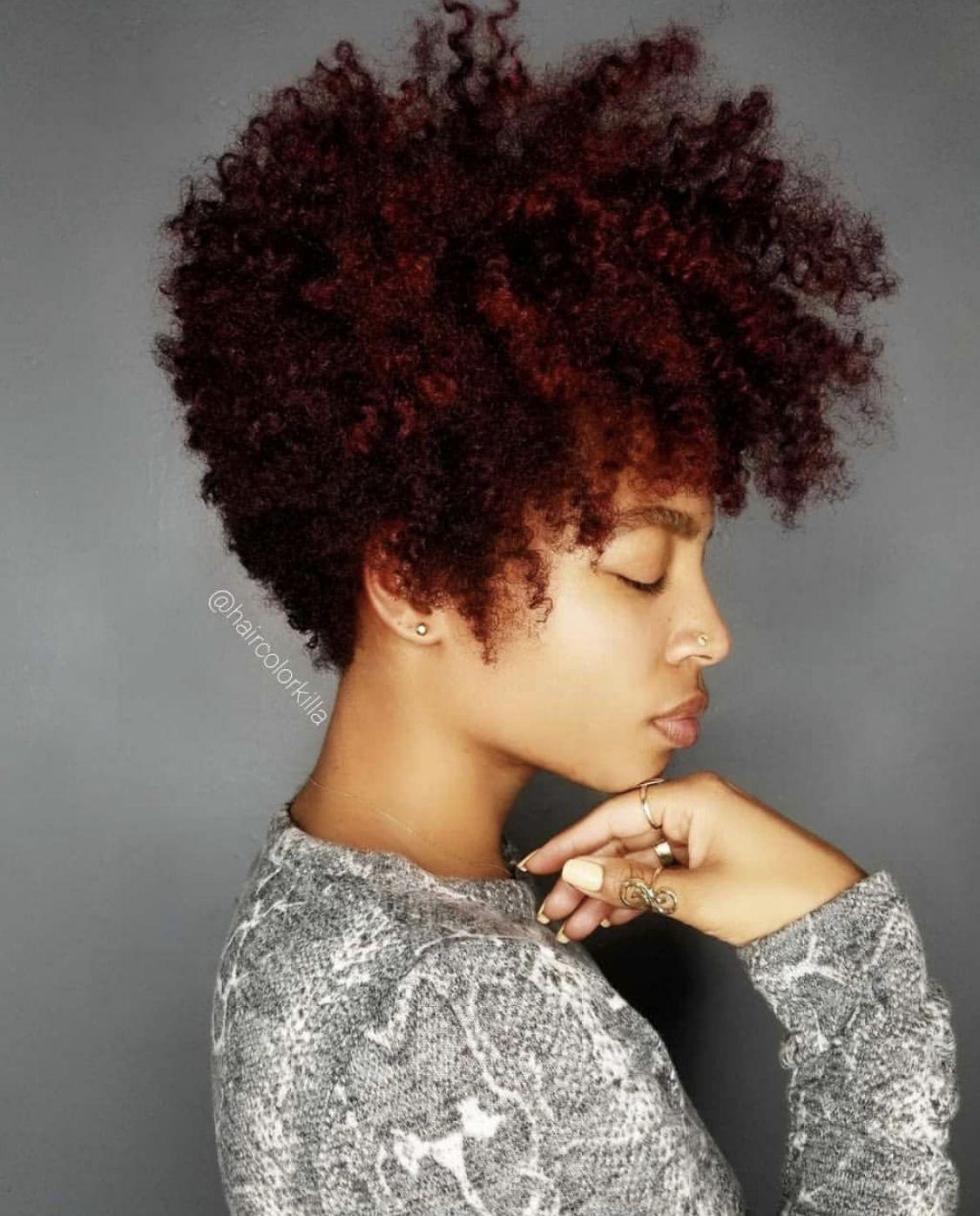 Natural Hair Tapered Natural Hair Burgundy Hair Tapered Hair
