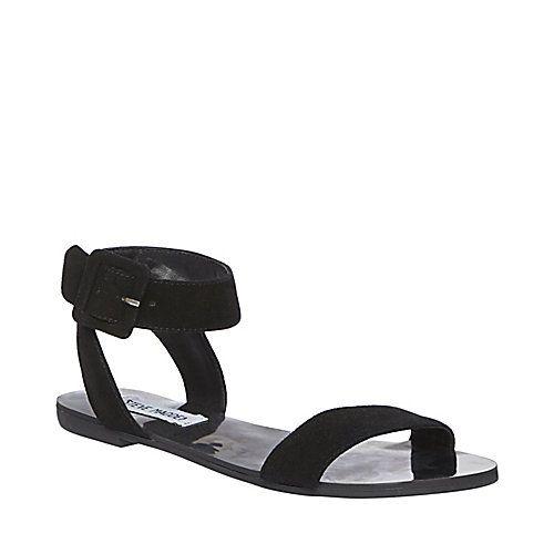 FLEXI BLACK women's sandal flat ankle strap - Steve Madden