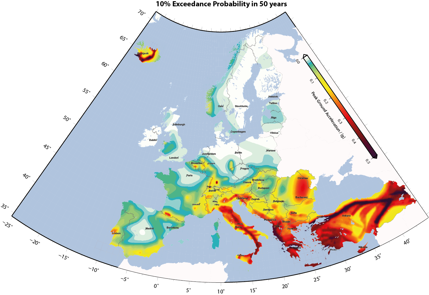 Earthquake Hazard In Europe