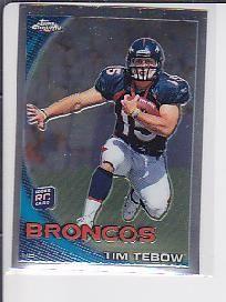 TIM TEBOW 2010  TOPPS CHROME ROOKIE CARD RC  SP BRONCOS #15 GATORS JETS -----   ---- p0476