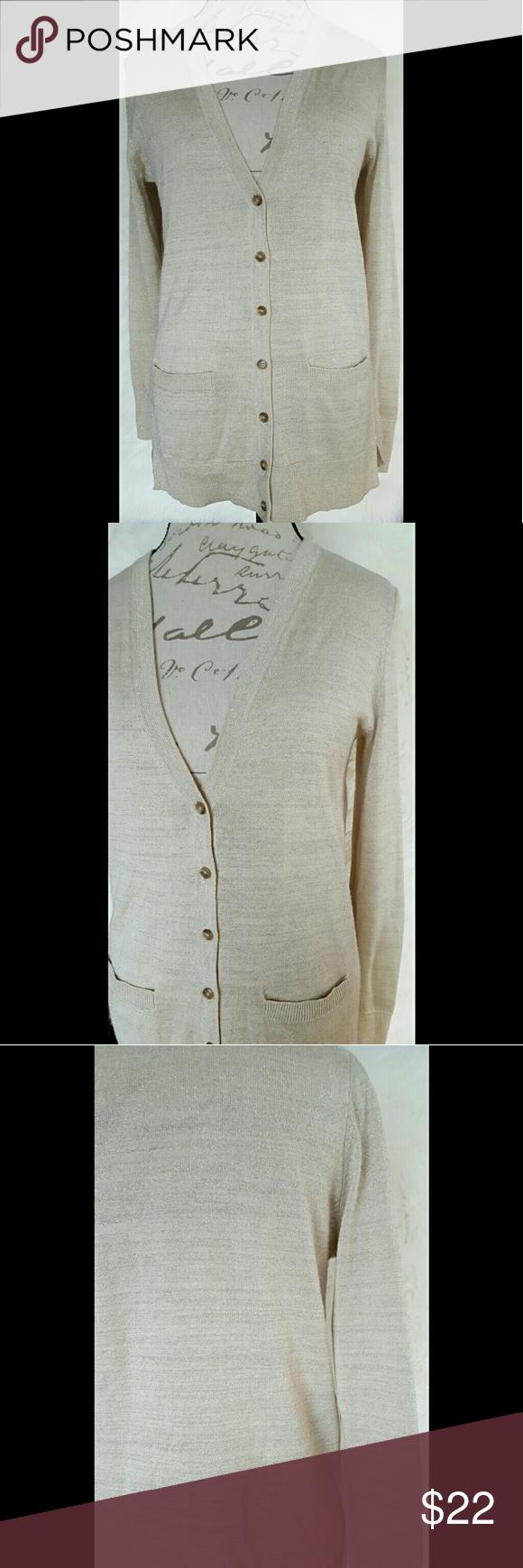 Ann Taylor Loft Gold Shimmer Cardigan | Sweater cardigan ...