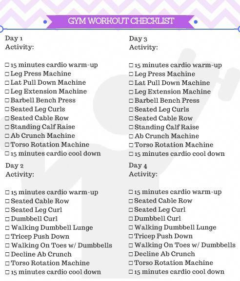 Beginner Gym Workout For Women + Free Printable - Kicking It With Kelly